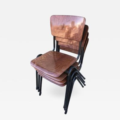 Friso Kramer Set of Four Chairs in the Style of Friso Kramer