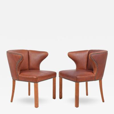 Frits Henningsen 1940s Pair of Armchairs Attributed Frits Henningsen