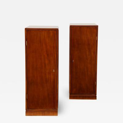 Frits Henningsen A Pair of Frits Henningsen Mahogany Freestanding Pedestal Cabinets Circa 1940s