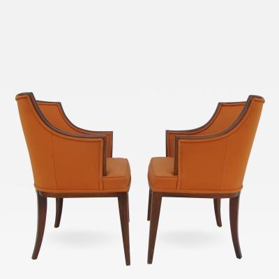 Frits Henningsen Armchairs in the Style of Frits Henningsen