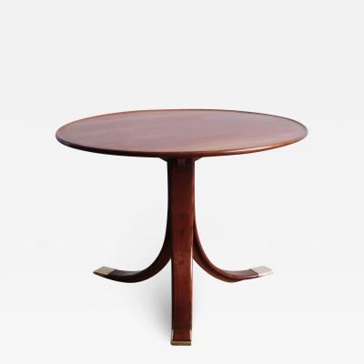 Frits Henningsen Circular Mahogany Side Table by Frits Henningsen