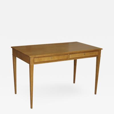 Frits Henningsen Compact Neoclassical Desk Writing Table in Oak by Frits Henningsen