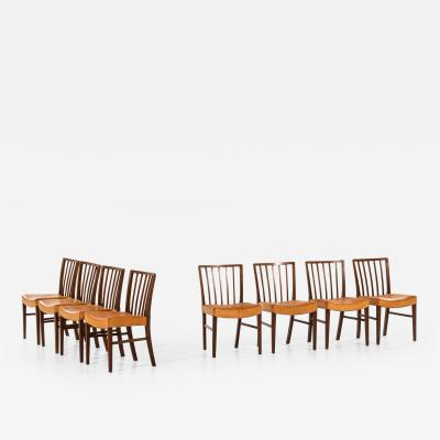 Frits Henningsen Dining Chairs Produced by Cabinetmaker Frits Henningsen