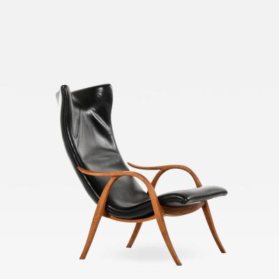 Frits Henningsen Easy Chair Produced by Cabinetmaker Frits Henningsen