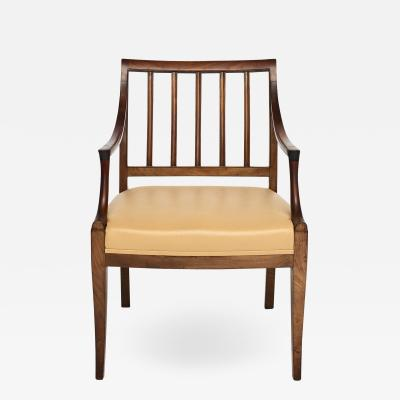 Frits Henningsen FRITS HENNINGSEN DESK ARM CHAIR IN MAHOGANY WITH LEATHER SEAT