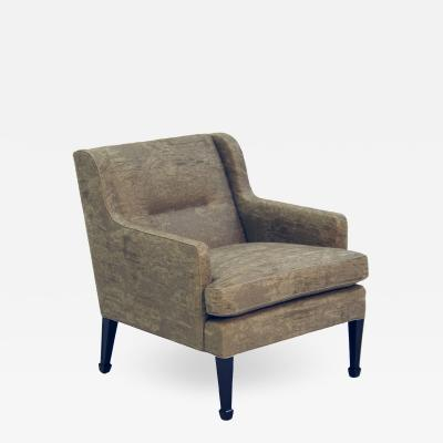 Frits Henningsen Frits Henningsen Lounge Chair with Stained Beech Legs Upholstered Linen