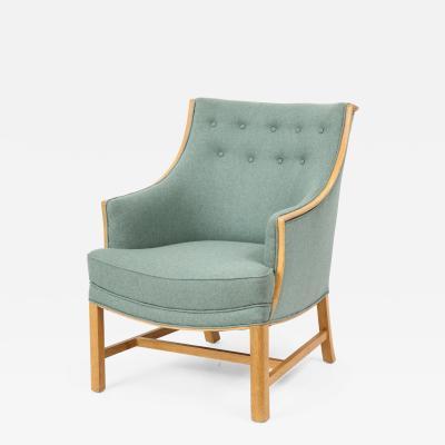 Frits Henningsen Frits Henningsen Oak Upholstered Armchair Circa 1940s