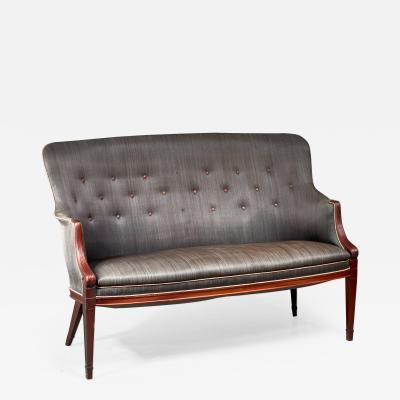 Frits Henningsen Frits Henningsen horsehair sofa Denmark 1940s