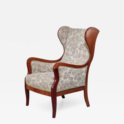 Frits Henningsen Frits Henningsen wingback lounge chair Denmark 1940s