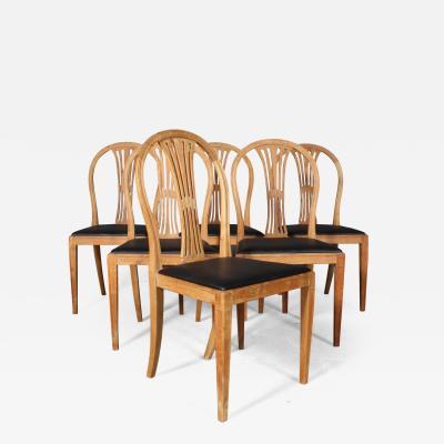 Frits Henningsen Fritz Henningsen Six chairs with oak frame 6