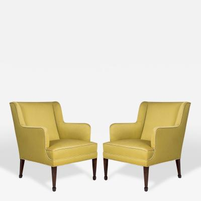 Frits Henningsen Pair of Frits Henningsen Lounge Chairs