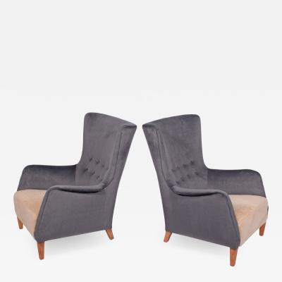 Frits Henningsen Pair1940s Easy Chairs attributed to Frits Henningsen