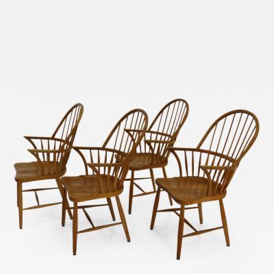 Frits Henningsen Set of Four Highback Chair CH 18 A by Frits Henningsen for Carl Hansen Son
