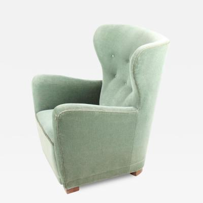 Fritz Hansen 1940s Easychair Attributed to Fritz Hansen