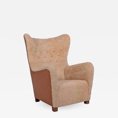 Fritz Hansen 1942 Fritz Hansen Lounge Chair Model 1672