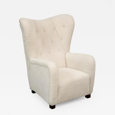 Fritz Hansen Fritz Hansen Highback Easy Chair Model 1672 in Sheepskin