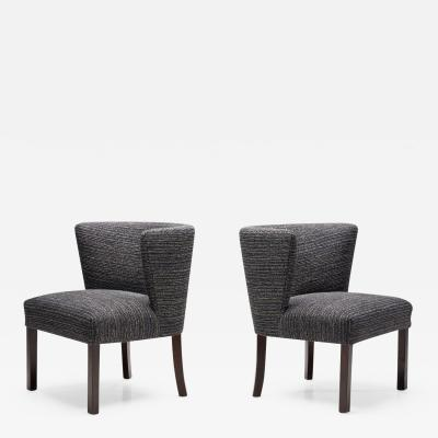 Fritz Hansen Pair of Model 1514 Chairs by Fritz Hansen Designed Denmark 1940