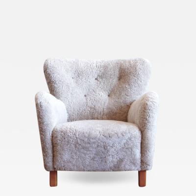 Fritz Hansen Shearling Upholstered Fritz Hansen Easy Chair