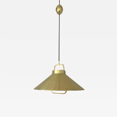 Fritz Schlegel Vintage 1960s Danish Brass Pendant Light by Fritz Schlegel for Lyfa