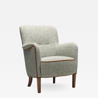 Frode Holm Armchair in Boucl by Frode Holm attr for Illums Bolighus Denmark 1960s