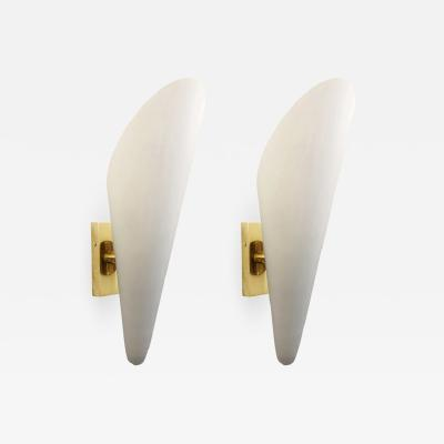 Frosted Glass Cone Sconces Italy 1960 s