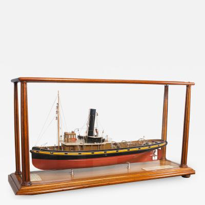 Full Builders Dockyard Model of Sister Tugs FLYING SWIFT FLYING LINNET Glasgow