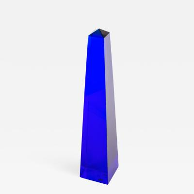 Fulvio Bianconi Fulvio Bianconi Blown Glass Venini Murano Midcentury Cobalt Blue Huge Obelisk