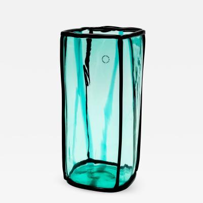 Fulvio Bianconi Fulvio Bianconi Epipedos Vase Green Blue