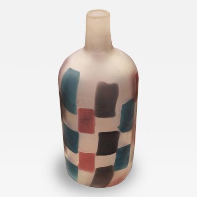 Fulvio Bianconi Fulvio Bianconi Pezzato Vase for Cenedese Italy 1950s