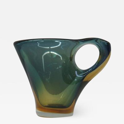 Fulvio Bianconi Murano Glass Pitcher Attributed to Fulvio Bianconi