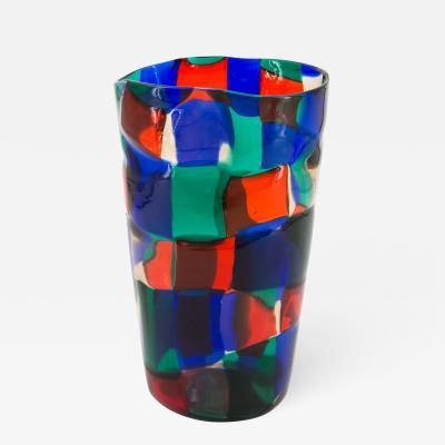 Fulvio Bianconi Oval Shaped Pezzato Patchwork Vase