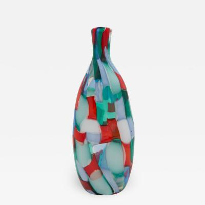 Fulvio Bianconi Pezzato Arlecchino vase by Fulvio Bianconi