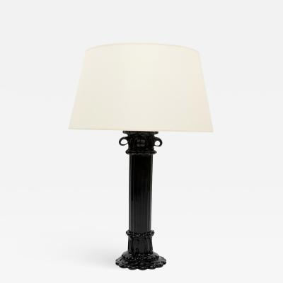 Fulvio Bianconi Venini Murano Large Antique Column Shaped Lamp Base By Fulvio Bianconi
