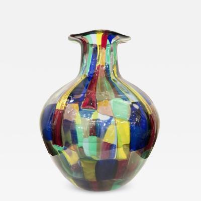 Fulvio Bianconi Venini Pezzato Vase by Fulvio Bianconi