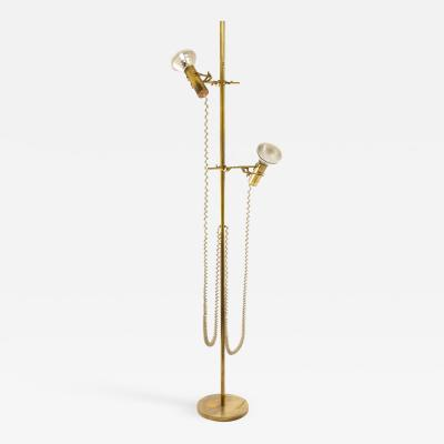 Fulvio Ferrari Capacio brass floor lamp by Fulvio Ferrari for Solka B 1972