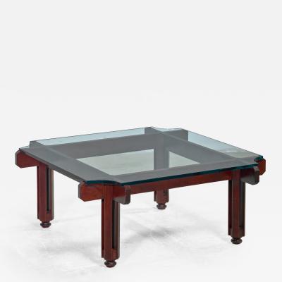 Fulvio Raboni Fulvio Raboni wood and glass coffee table Italy 1950s
