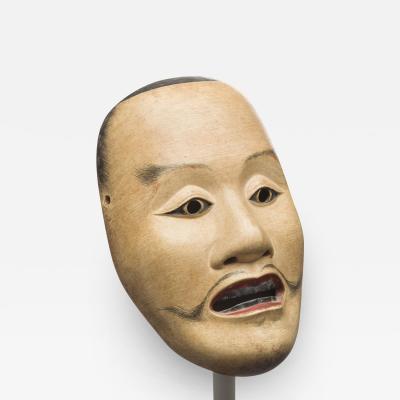 Fuseki Nakamura Fine and Rare Noh Mask by Nakamura Fuseki 1824 Edo Period