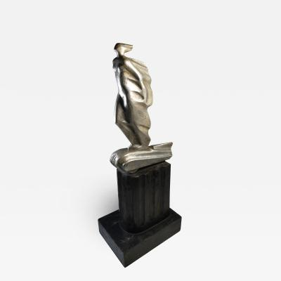 Futurist Automobile Trophy Art Deco Modern Bronze Sculpture