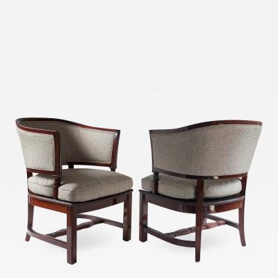 G H Wrange Swedish Art Deco Chairs by G H Wrange Stockholm
