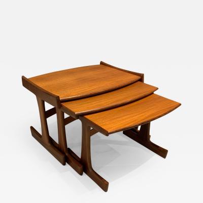 G Plan Victor Wilkins Quadrille Teak Nesting Tables for G Plan Britain 1960s
