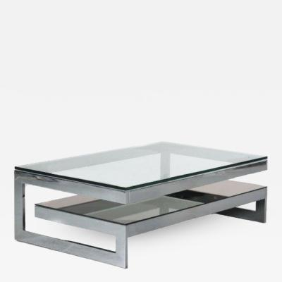 G Shape Coffee Table by Belgo Chrom Belgium 1970
