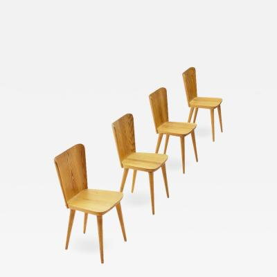 G ran Malmvall Four Pine Dining Chairs by Goran Malmvall for Karl Andersson S ner Sweden