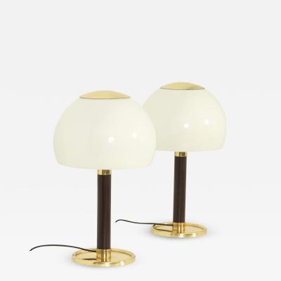 GAETANO SCOLARI Pair of Gaetano Scolari Table Lamps for Metalarte Spain