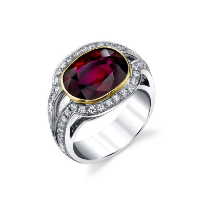 GIA Certified 5 17 Carat Ruby and Diamond Ring