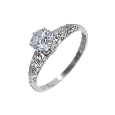 GIA Certified 70 Carat Diamond Filigree Platinum Engagement Ring