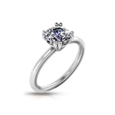 GIA Certified Diamond Engagement Ring in 14KT Gold F VS1 0 94 CT