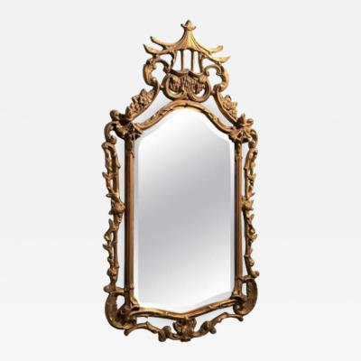 GILT CHINESE CHIPPENDALE STYLE MIRROR