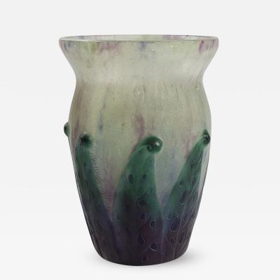 Gabriel Argy Rousseau Feuilles Tachetees vase by Rousseau