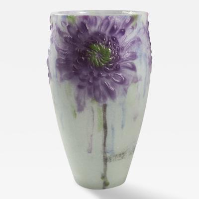Gabriel Argy Rousseau French Chrysanthemums Cameo Glass Vase by Gabriel Argy Rousseau
