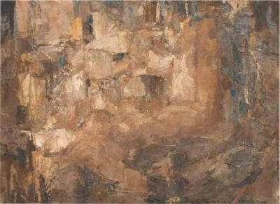 Gabriel Chavez ART Modernism ABSTRACT Oil Painting Mid Century